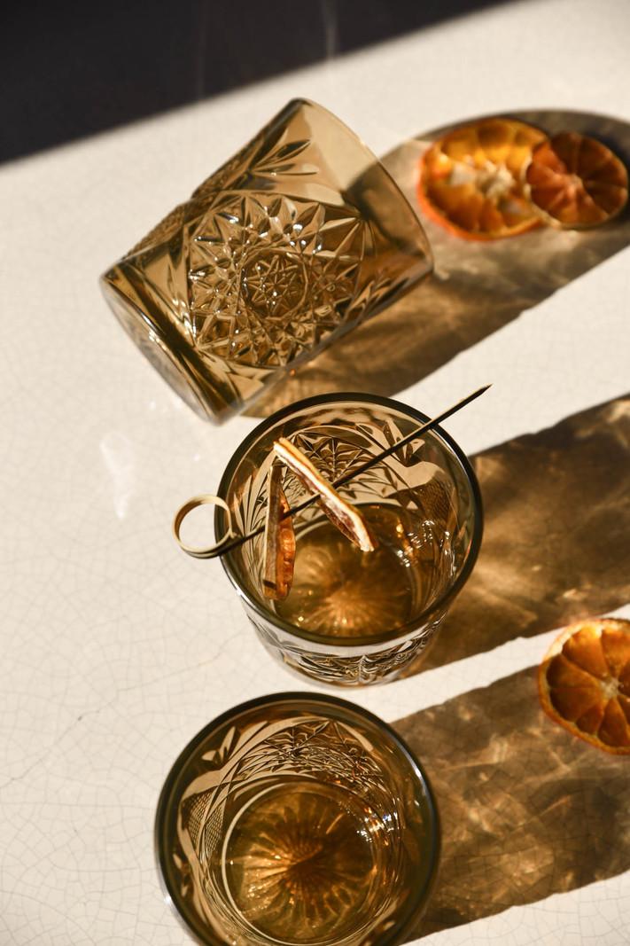 Hobstar Glass Sun Ocher