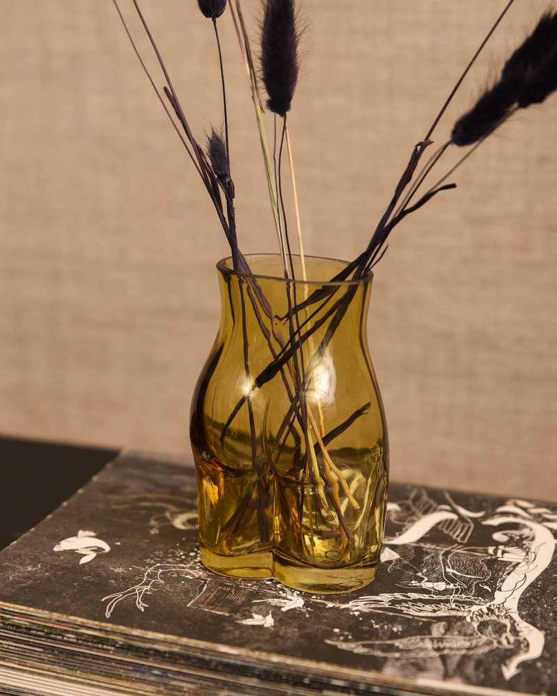 Bum Vase Ocher
