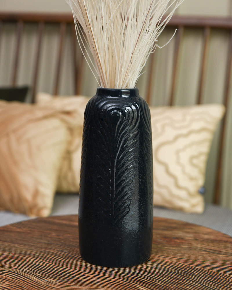 Vase Izette Black Stoneware
