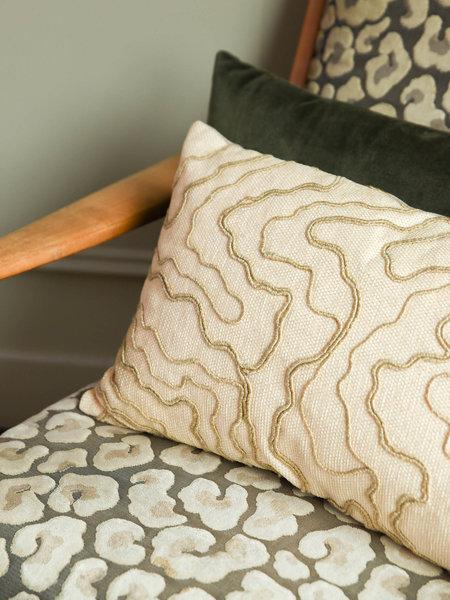 HK Living Cushion Cream Stitches
