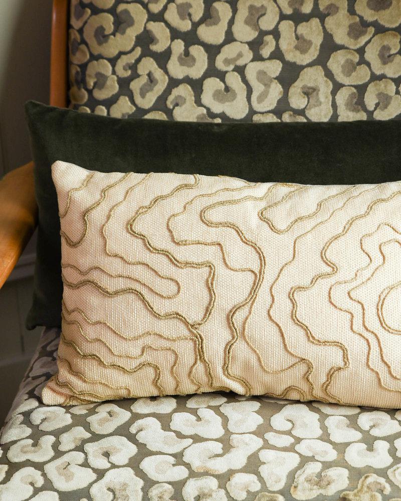 Cushion Cream Stitches
