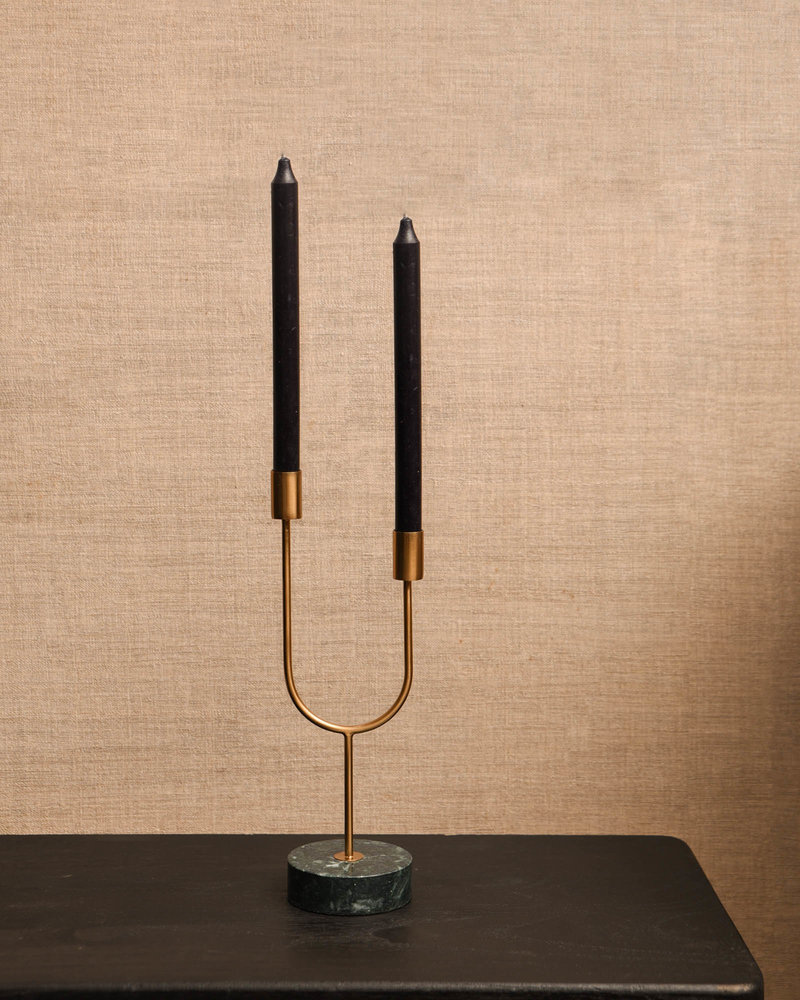 Candle Holder Florike Green Marble
