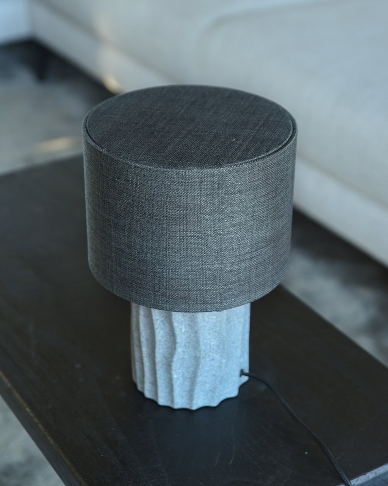 Table Lamp Bora Grey + Shade