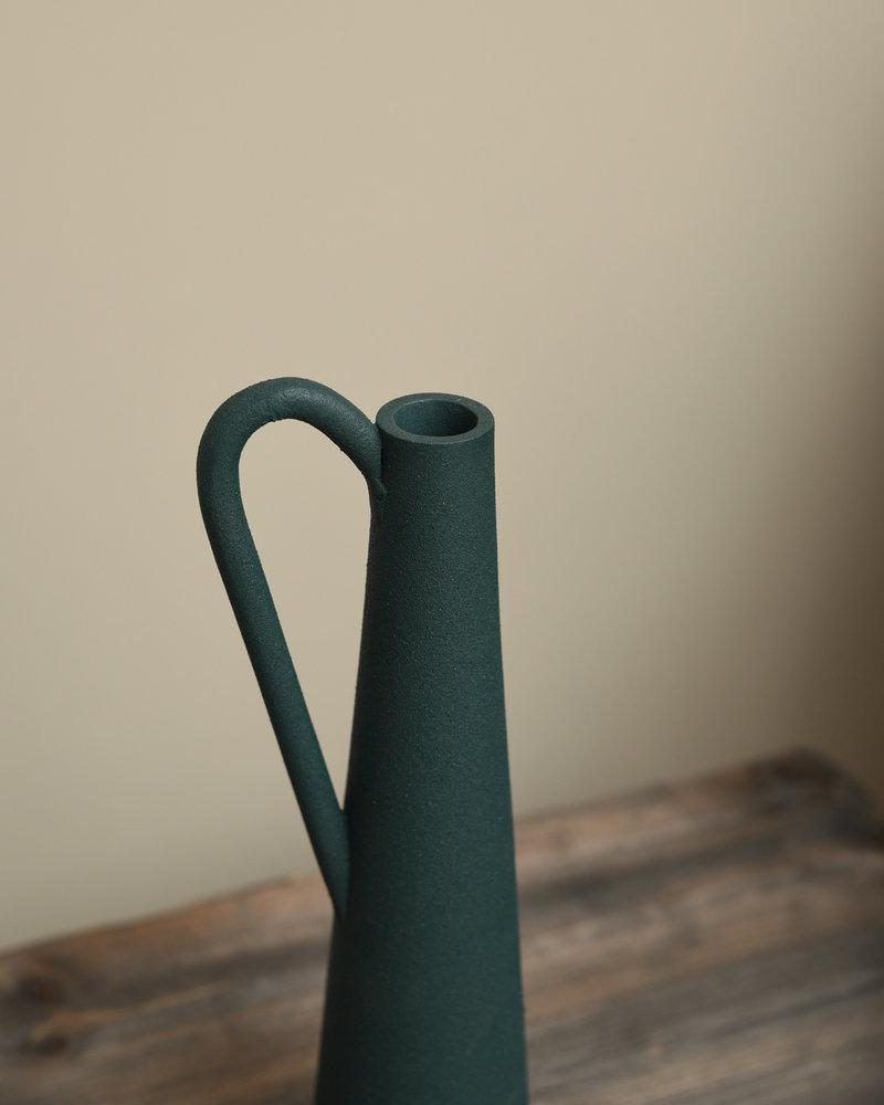 Vase Green Metal