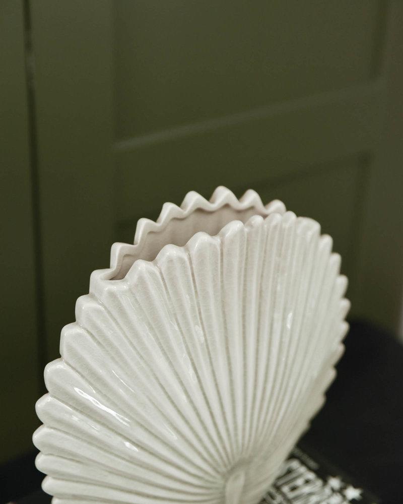 Vase Leaf Stoneware