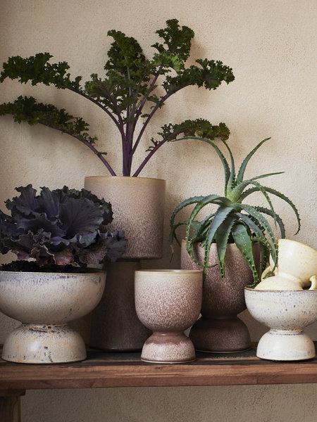 Madam Stoltz Planter Powder Brown Stoneware