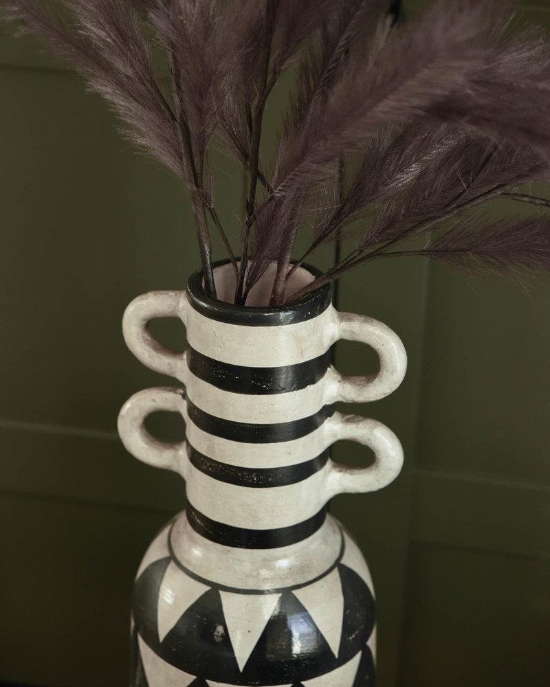Vase Graphic Sand Black Terracotta