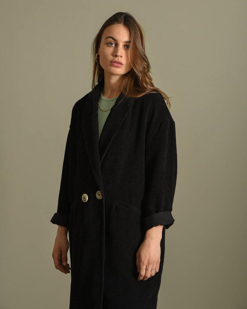 Chloe Rib Jacket Black