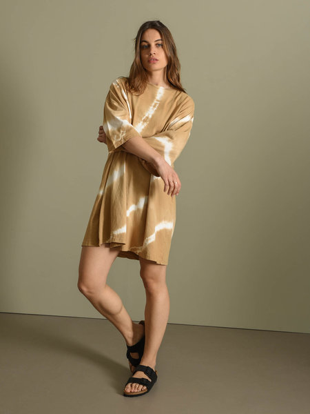 Things I Like Things I Love TILTIL Maxime Shirt Dress Batik Camel