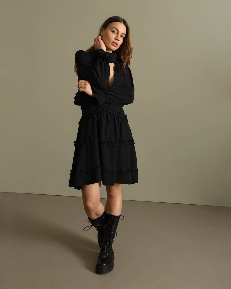 TILTIL Micky Ruffle Dress Black
