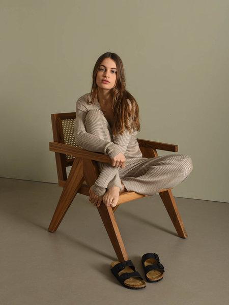 Rut & Circle Vanessa Knit Pant Mushroom