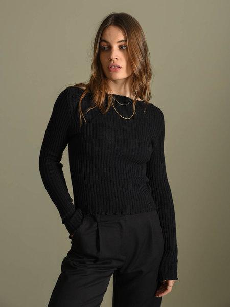 Things I Like Things I Love TILTIL Amy Frill Knit Black
