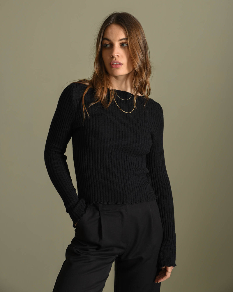 TILTIL Amy Frill Knit Black