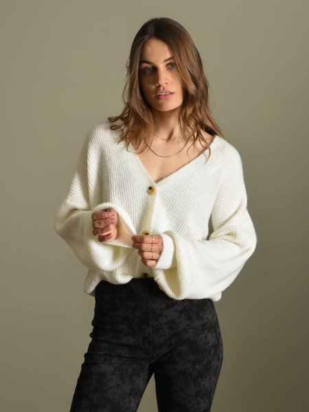 Things I Like Things I Love TILTIL Layla Cardigan White