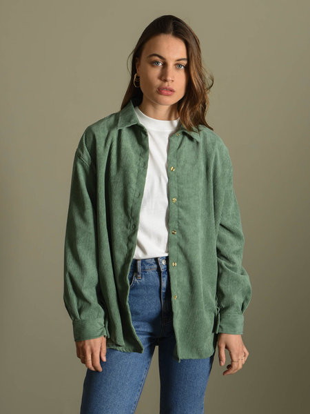 Things I Like Things I Love TILTIL Corduroy Blouse Sea Green