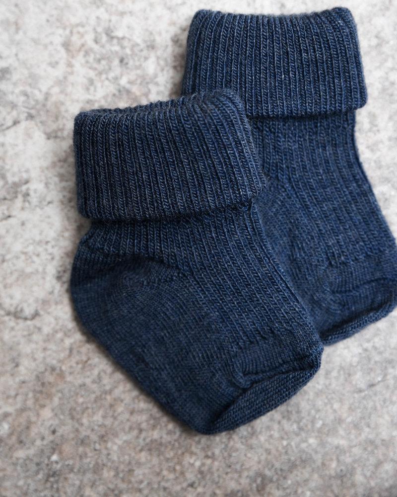 Baby Socks Rib Blue