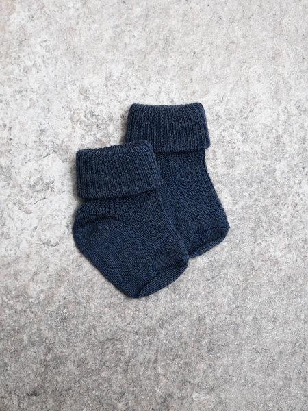 MP Denmark Baby Socks Rib Blue