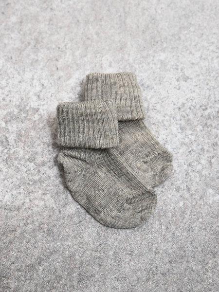 MP Denmark Baby Socks Beige/Grey Rib
