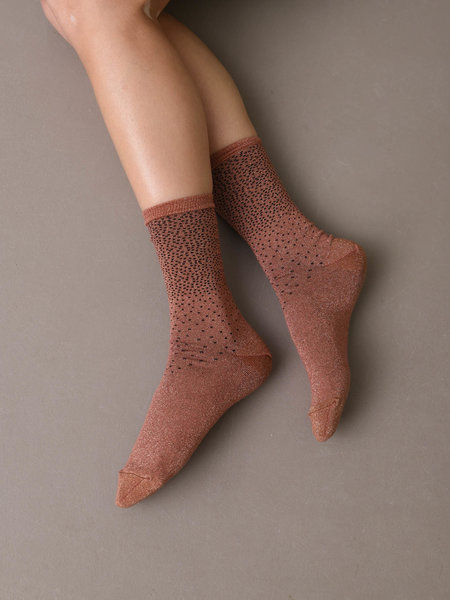 MP Denmark Glitter Socks Rust Dot
