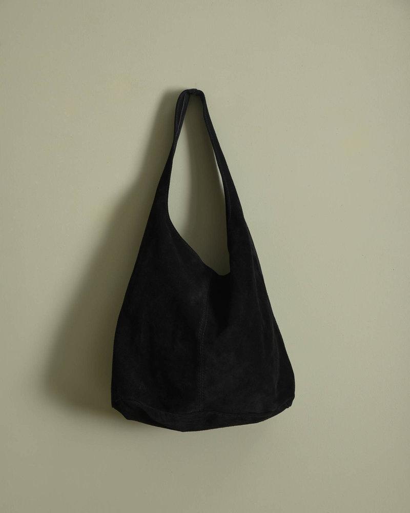 Suede Shopper Black