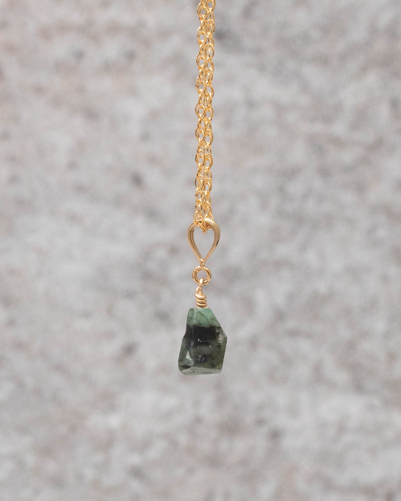 Charm May Emerald Goldfilled