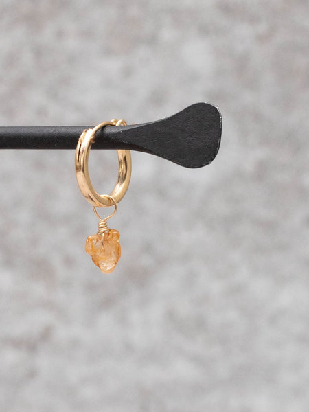 The Two Collectors Earring Charm November Topaz Goldfilled