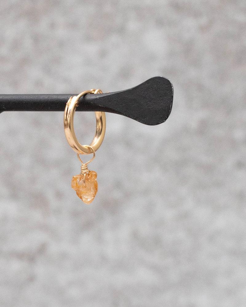 Earring Charm November Topaz Goldfilled