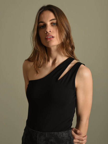 NAKD NAKD One Shoulder Cut Out Body Black