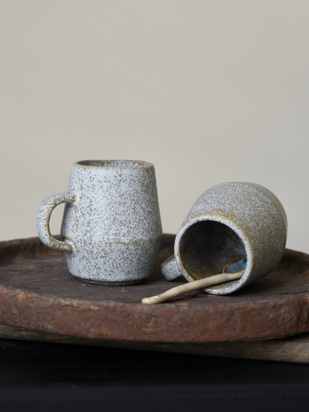 Madam Stoltz Mug Stoneware Taupe Small