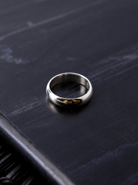 Things I Like Things I Love Thick Simple Ring Silver