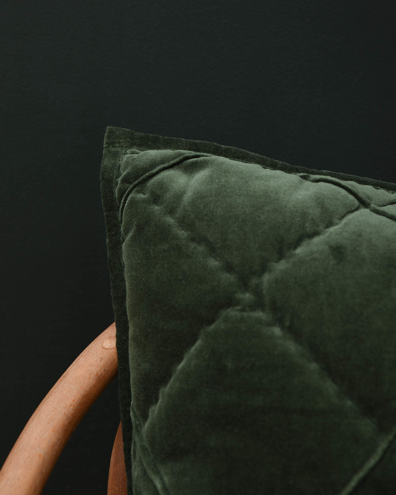 Cushion Diamond Moss Green