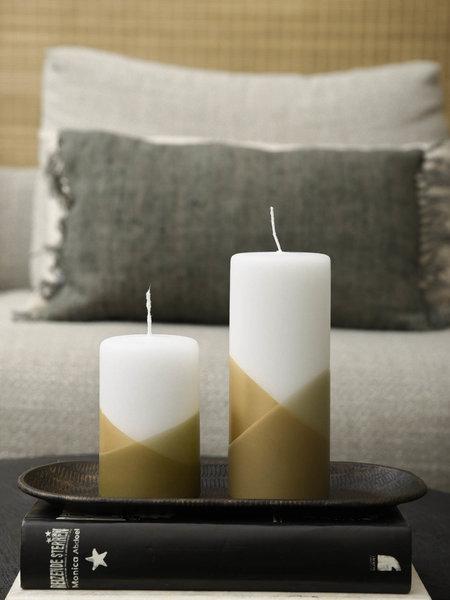 Rustik lys Pillar Candle Cross Eucalyptus