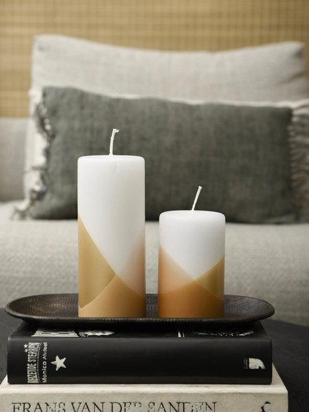 Rustik lys Pillar Candle Cross Blossom