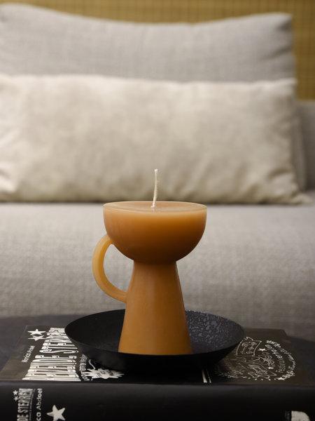 Rustik lys Sculpture Candle Cup Caramel