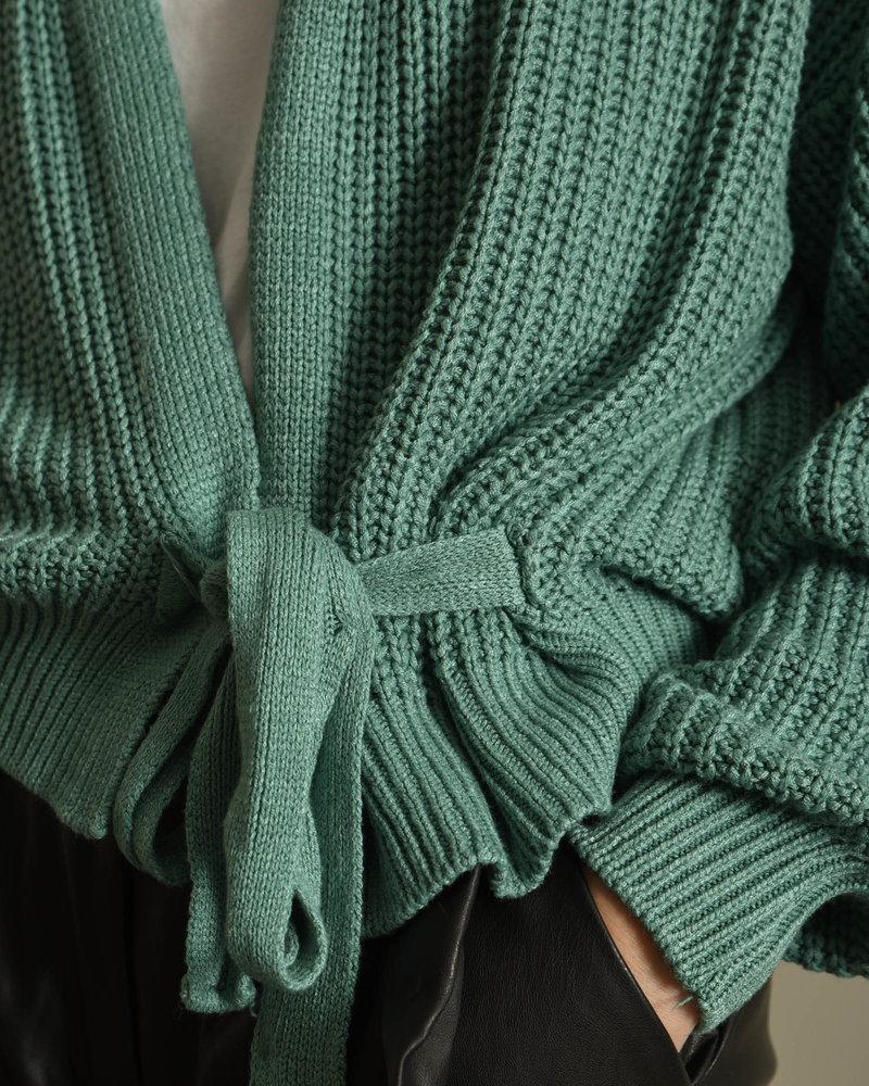 Erlijn Wrap Knit Sea Green