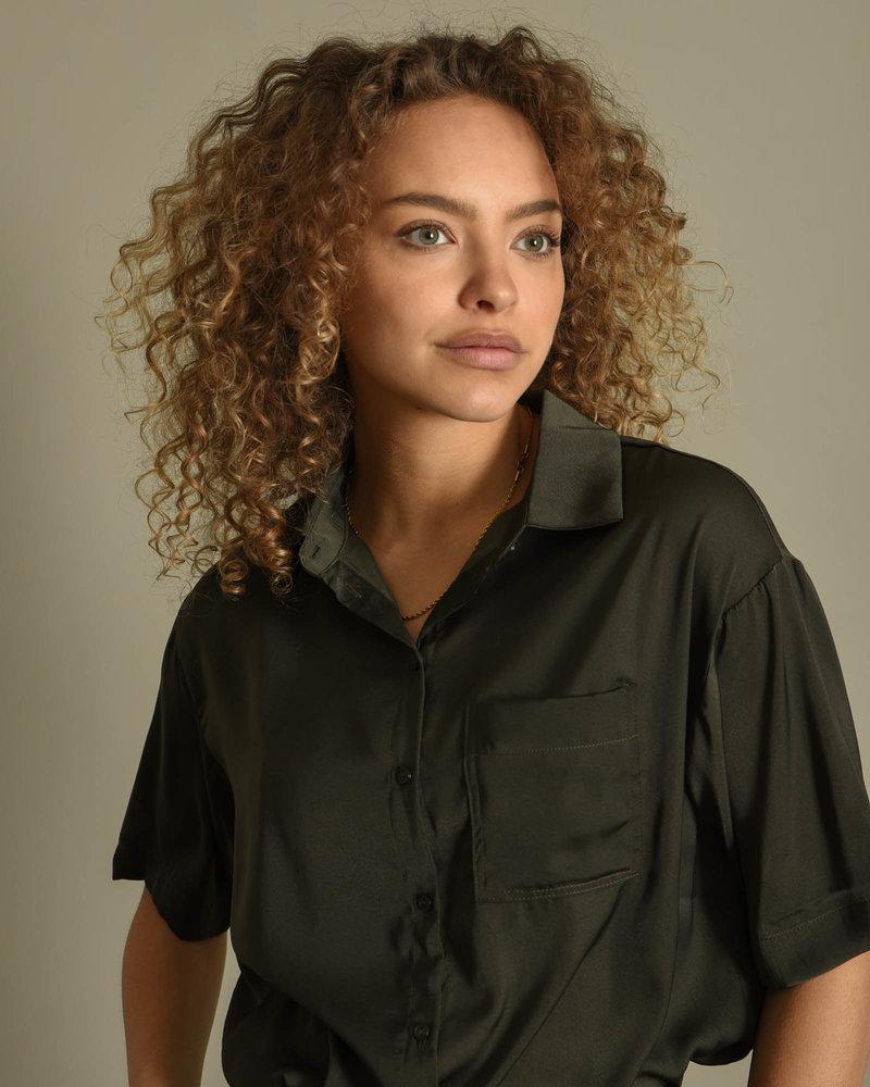 Carla Oversize Shirt Army Green
