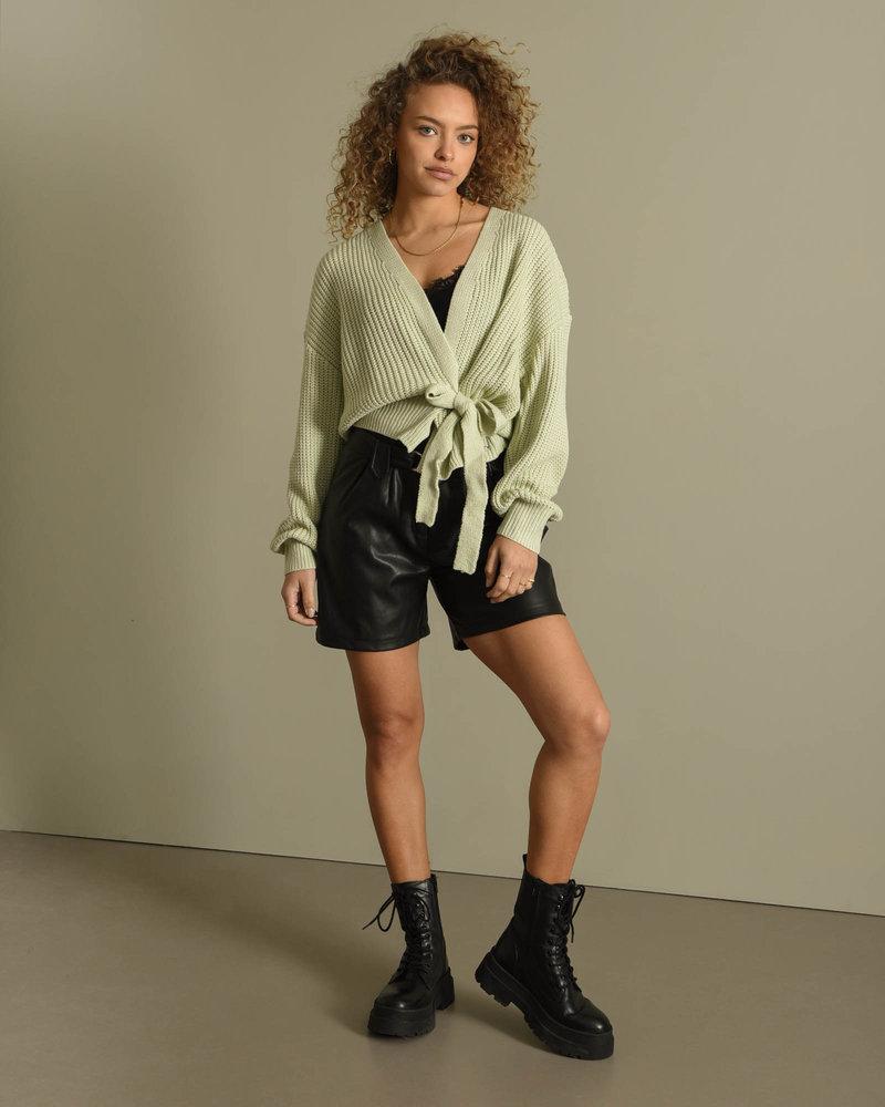 Erlijn Wrap Knit Lime Green