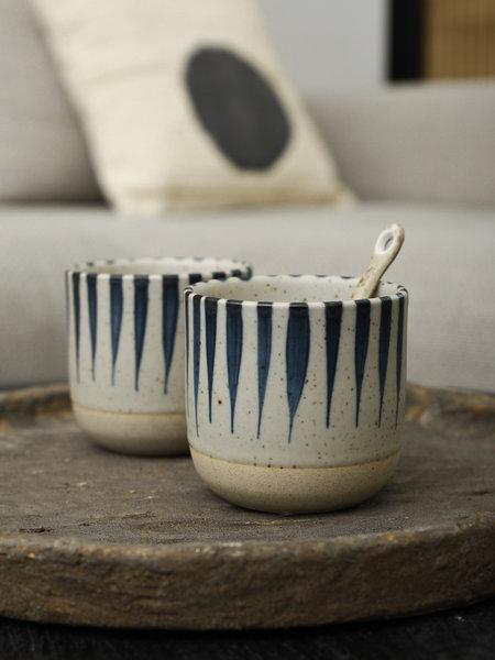 Basik Mug Oman Blue Stripes