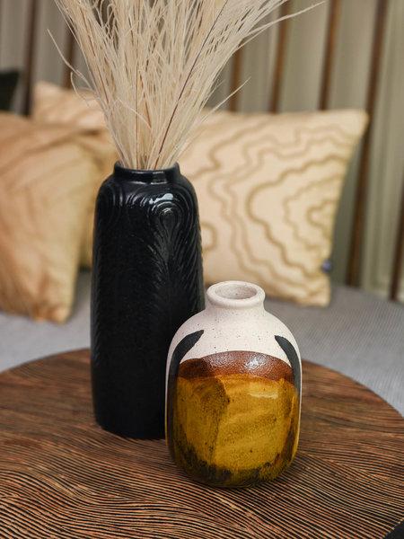 Vase Fine Earthenware Yellow Small