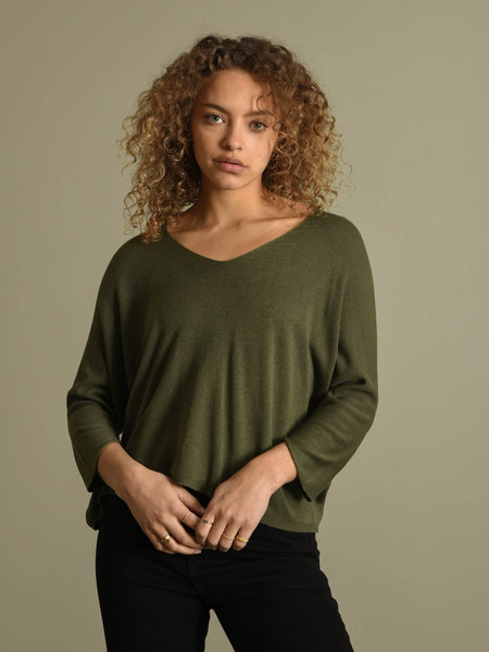 Amber Knitted Top Green