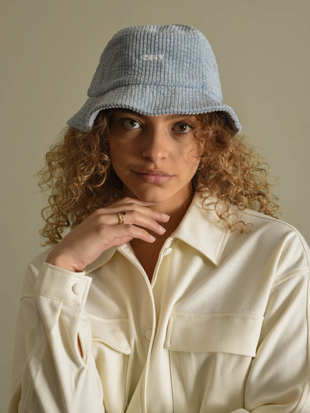 OBEY Bold Cord Bucket Hat Ice Blue