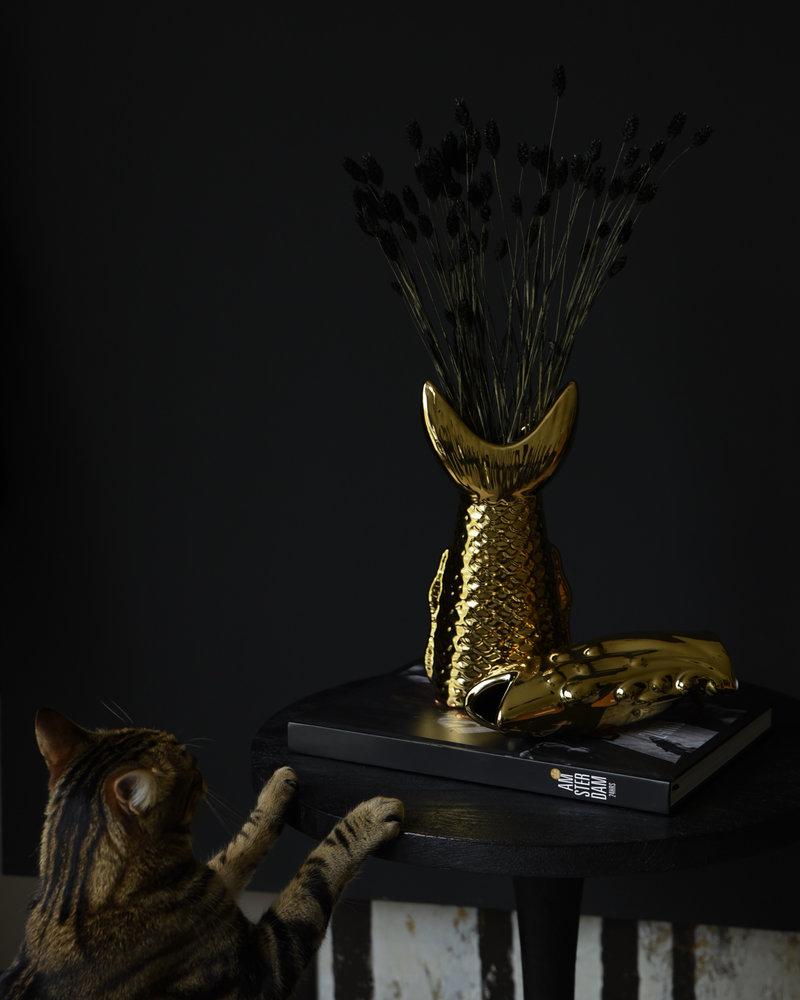 Vase Fish Head Gold