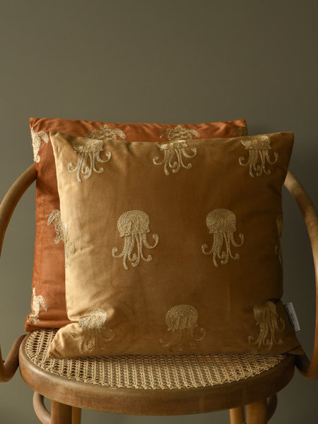 Cushion Jellyfish Velvet Ocher