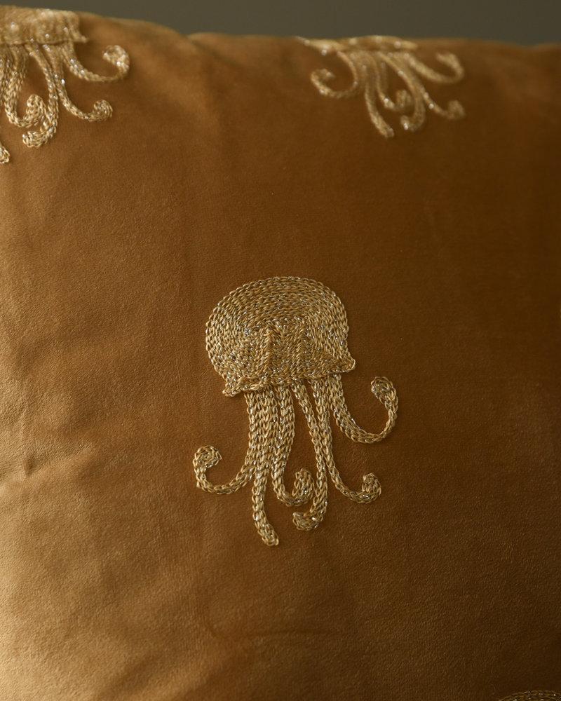 Cushion Jellyfish Velvet Ocher