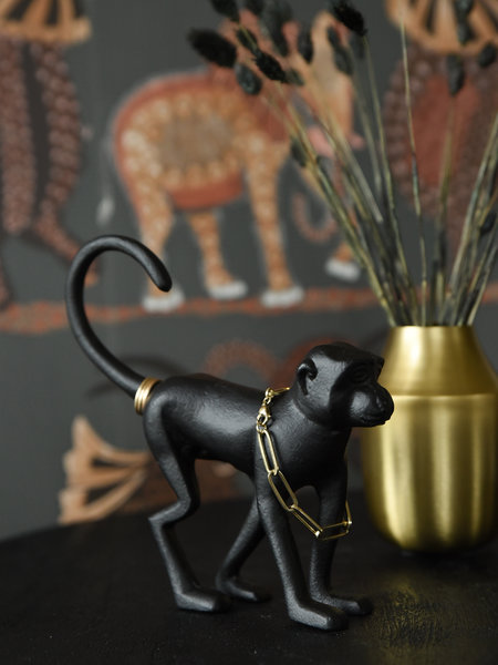 Monkey Ornament Black