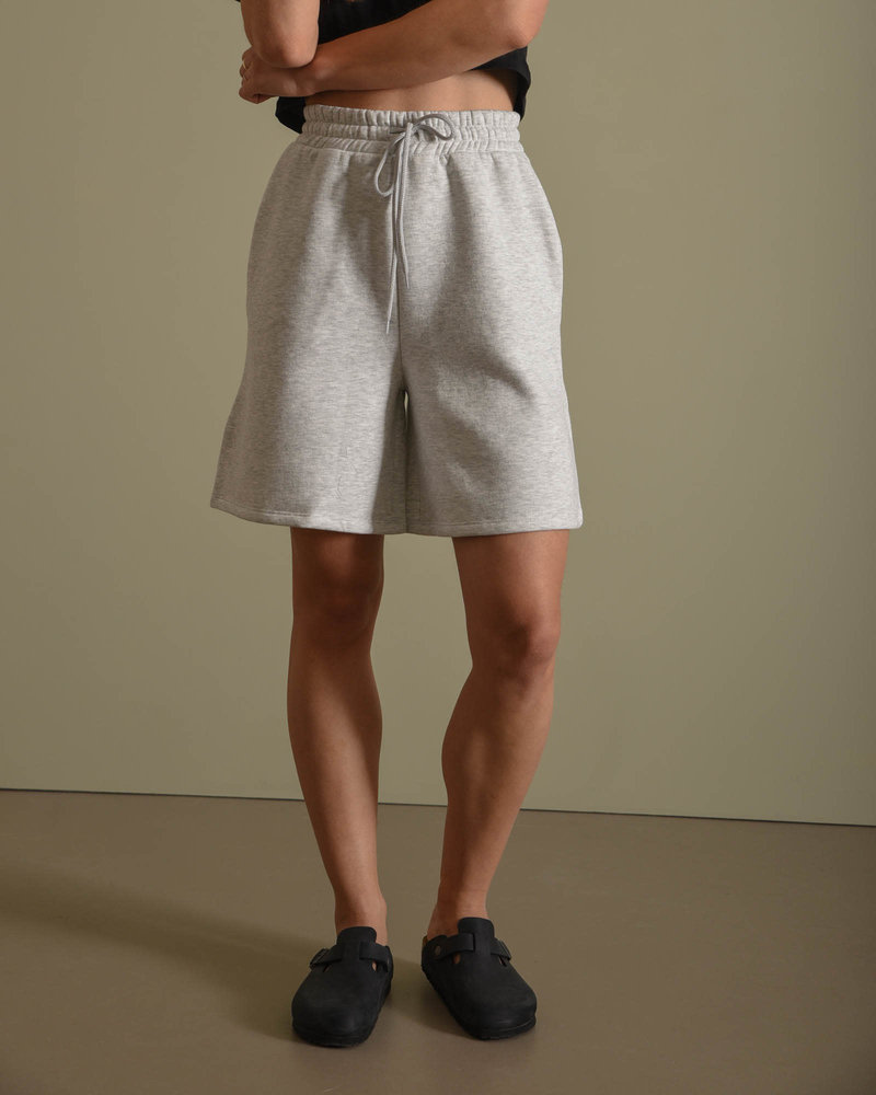 Organic Brushed Sweat Short Grey Melange