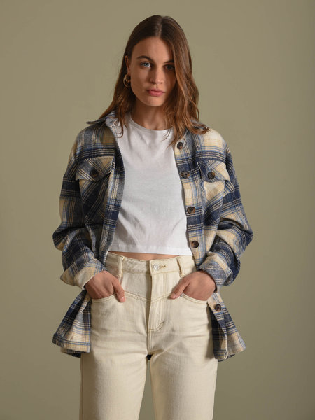 Rut & Circle Caroline Jacket Blue Check