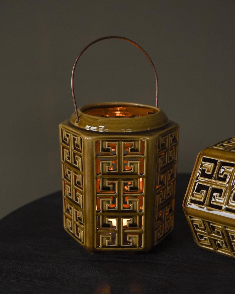 Lantern Fine Earthenware Brown