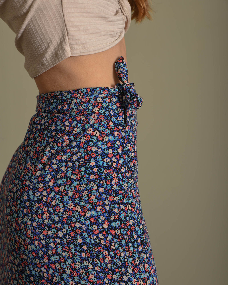 Ankle Skirt Black Flower Dubarry