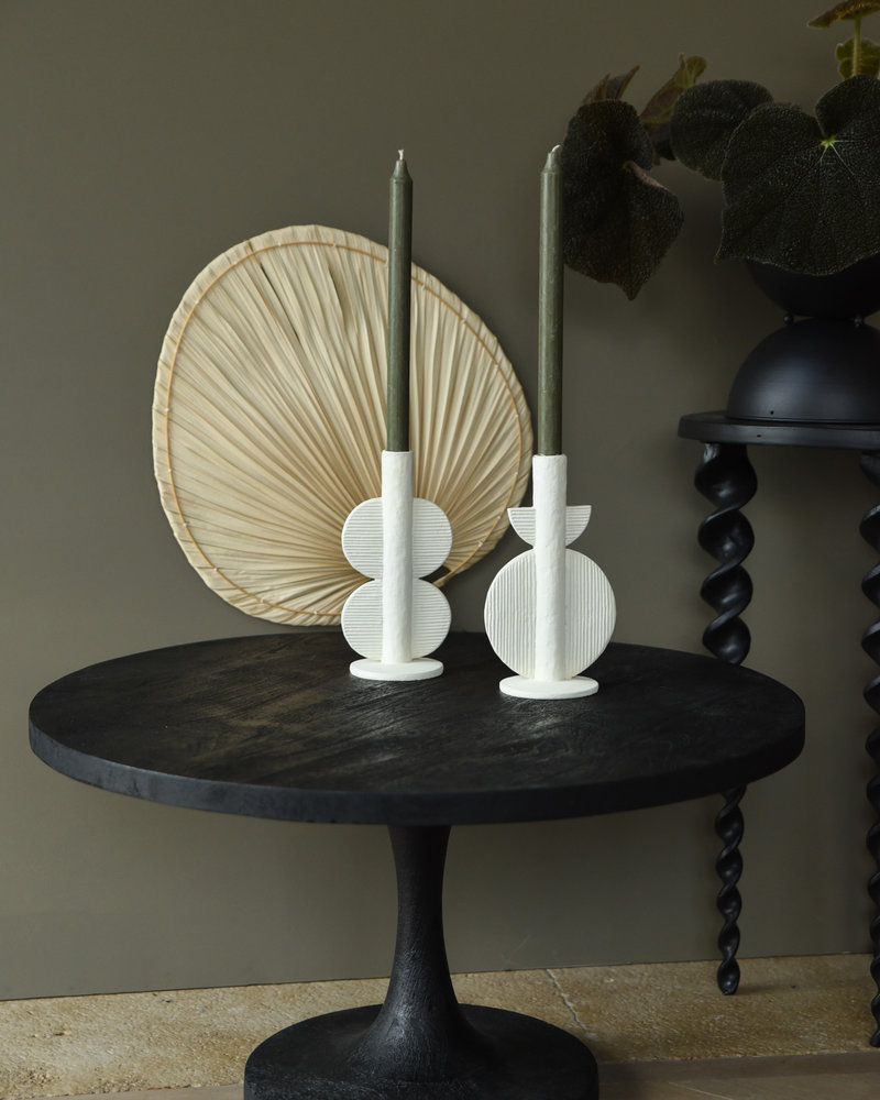 Candle Holder Ivory Wings